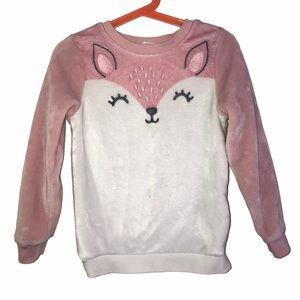Girls 4-6yr fleece Fox sweater